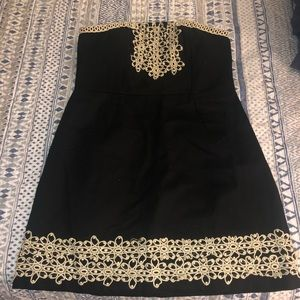 Mud pie strapless dress